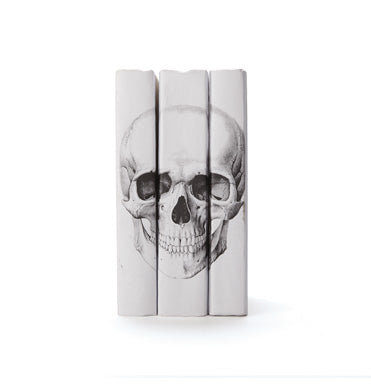 JJ Home White Skull Book Set