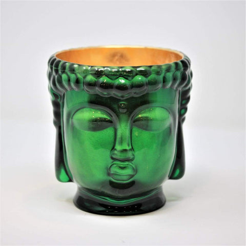 Thompson Ferrier Emerald Green Glass Buddha Candle