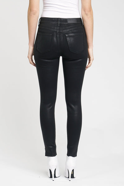 Pistola Aline High Rise Skinny in Coated Onyx