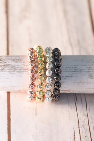 100 Percent Beads Metallic Lava Bracelet