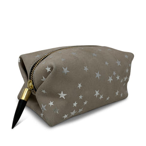 Kempton & Co. Taupe Star Cosmetic Case