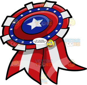A Patriotic Ribbon Badge