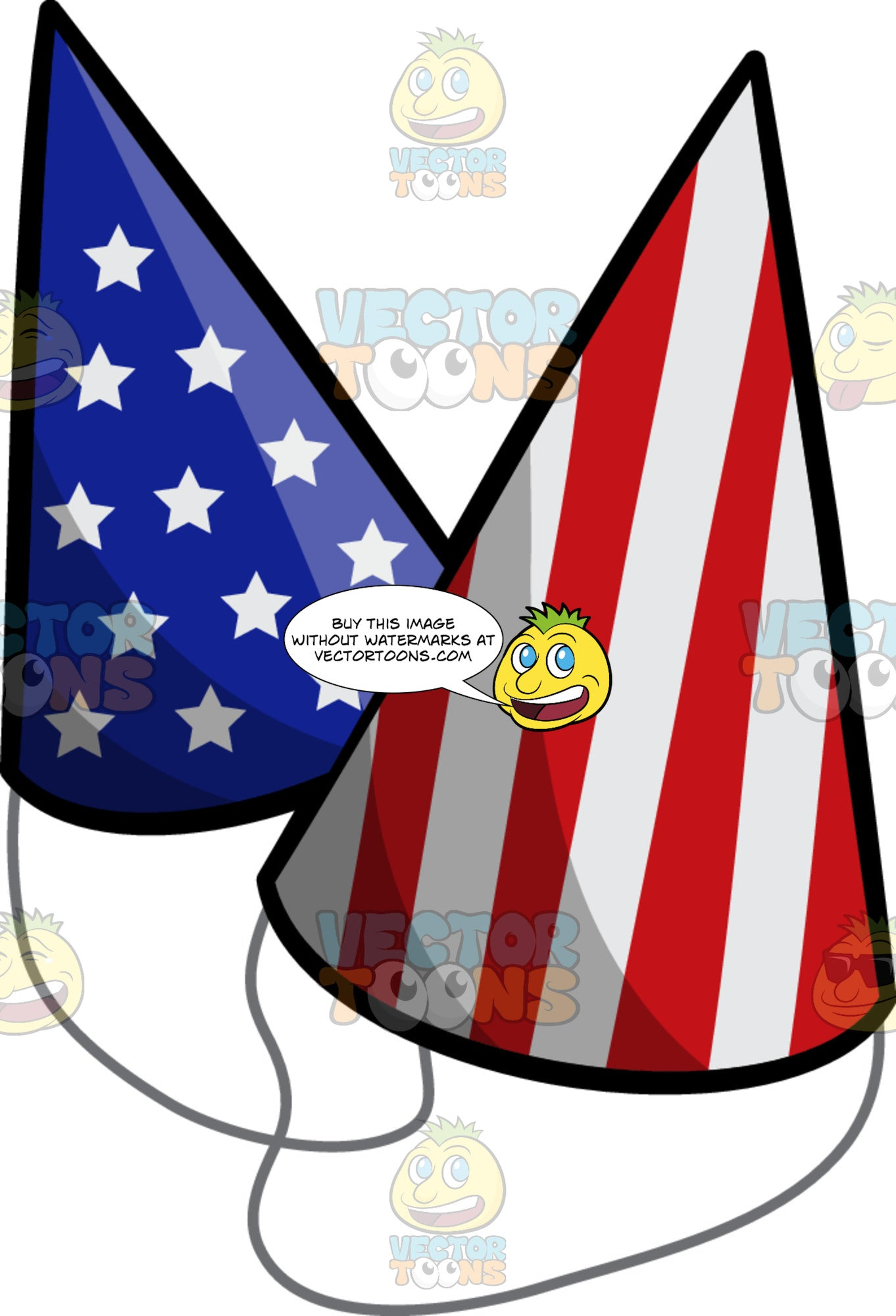 Usa Party Hats