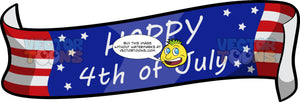 An American Independence Day Banner