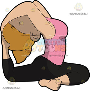 A Woman Doing The One Legged King Pigeon Yoga Pose