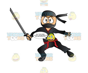 Masked Ninja With Sword