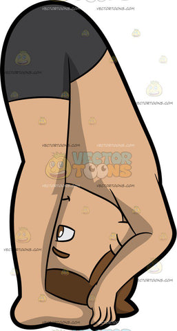 A Man Doing A Reclining Hand To Big Toe Yoga Pose