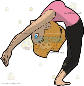 A Woman Coming Out Of The Upward Wheel Yoga Pose