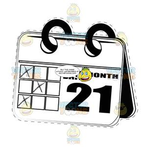 Desk Calendar With Dotted Outline