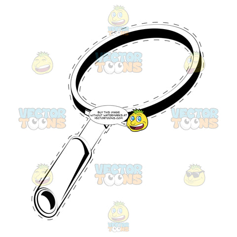 Magnifying Glass With Dotted Outline