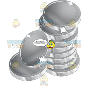 Stack Of Silver Coins