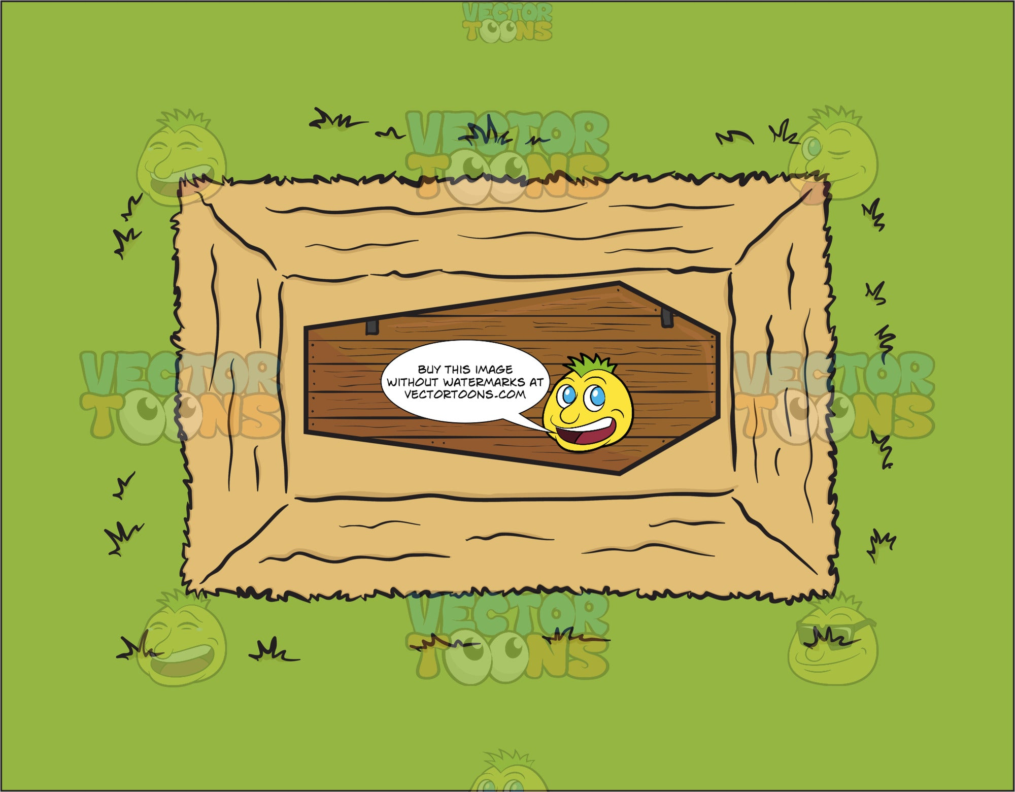 The View Of A Coffin In The Ground From Above