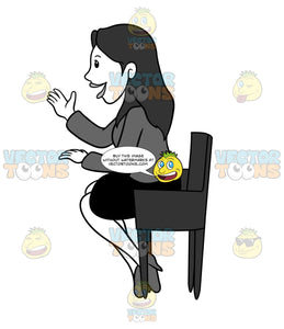 Woman Sitting In A Chair And Talking