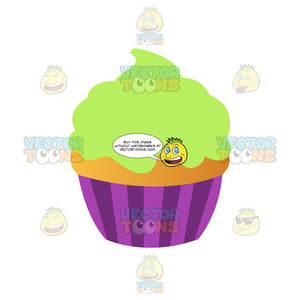 Vanilla Cupcake With Lime Green Icing