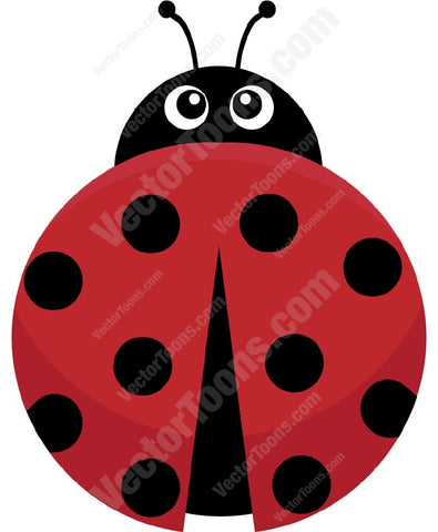 Red Ladybug With Black Spots