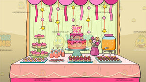 A Baby Shower For A Girl Background