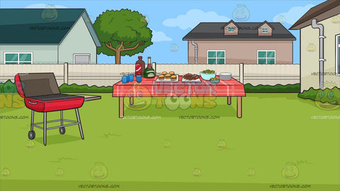 A Backyard Barbecue Background