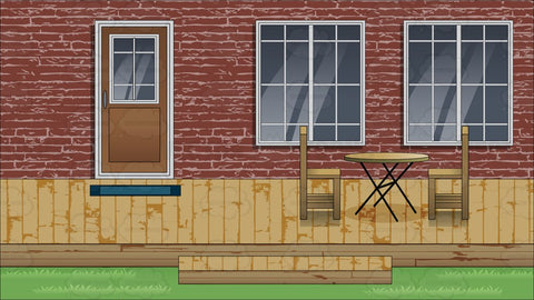 A Backyard Deck Background
