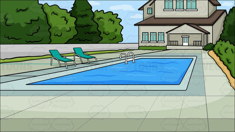A Backyard Pool Background