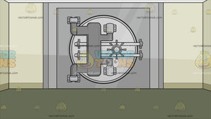 A Bank Vault Background