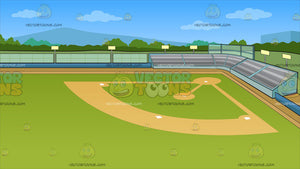 A Baseball Field Background