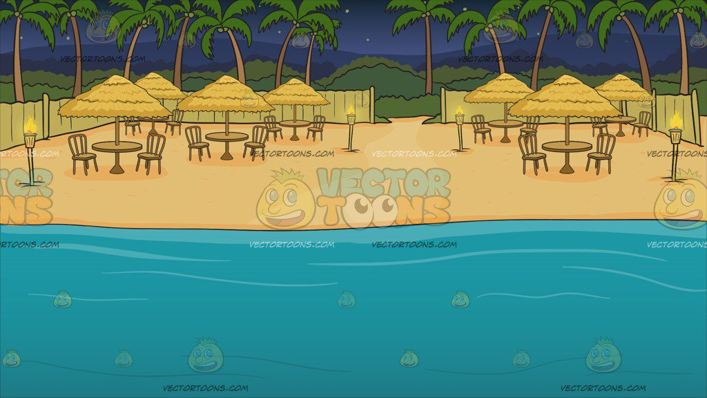 A Beach View Dinner Site Background