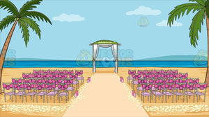 A Beach Wedding Ceremony Venue Background