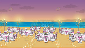 A Beach Wedding Reception Background
