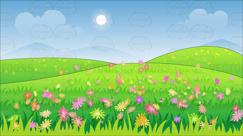 A Beautiful Field Of Wild Flowers Background