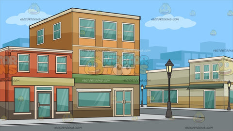 A Block Of Low Rise Buildings Background
