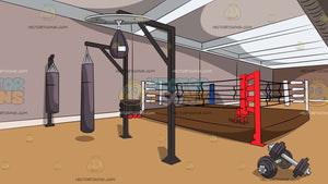 A Boxing Gym Background