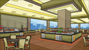A Buffet Restaurant Background