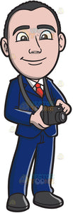 A Businessman With His Camera