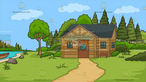 A Cabin In The Woods Background