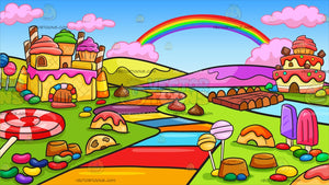 A Candy Land Background