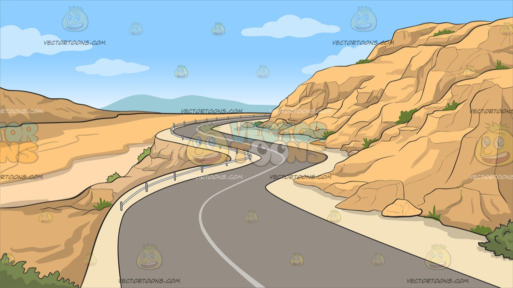 A Canyon Road Background