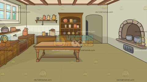 A Castle Kitchen Background