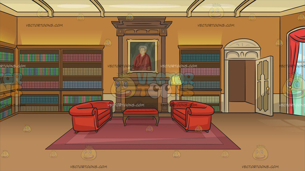 A Castle Library Background