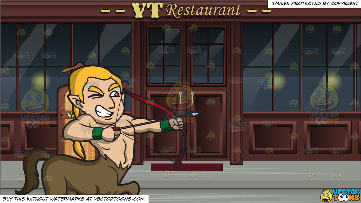 A Centaur Using A Bow And Arrow And A Valet Stand Outside A Restaurant Clipart Cartoons By Vectortoons All of these straight arrow background resources are for free download on pngtree. a centaur using a bow and arrow and a valet stand outside a restaurant clipart cartoons by vectortoons