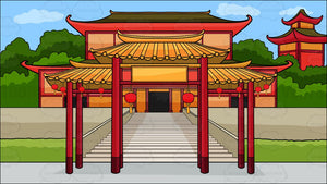 A Chinese Temple Background