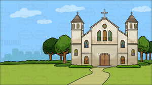 A Church Outside The City Background