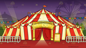 A Circus Tent Background