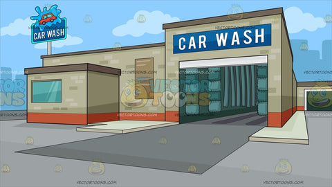 A City Auto Car Wash Background