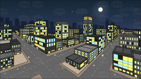 A City During A Lovely Night Background