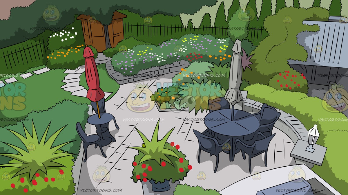 A Classic Backyard Background Clipart Cartoons By