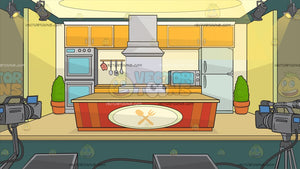 A Cooking Show Studio Background