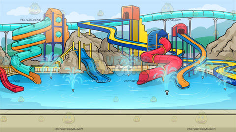 A Cool Water Park Background