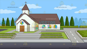 A Country Chapel Background