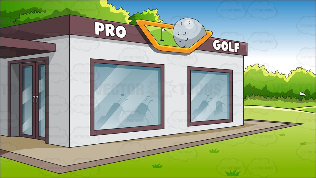 A Country Club Golf Shop Background