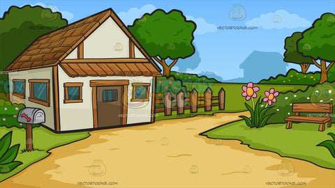 A Countryside Cottage Background